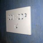 Placa MDF lacado, recorte CNC.