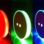 Botão retrosaria com iluminação LEDs RGB.